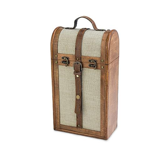2-Bottle Vintage Trunk Wine Box by Twine®