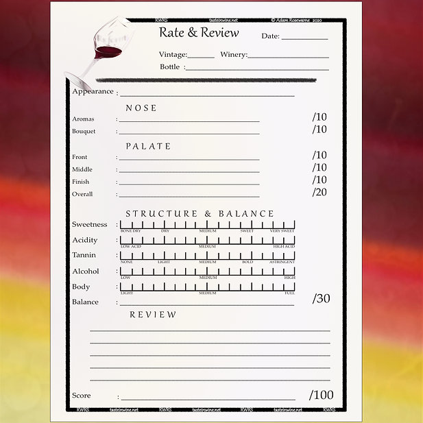 Rs rate & review wine tasting page