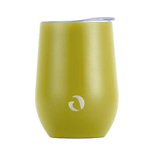 DRINCO® 12oz Insulated Wine Tumbler Glass (Martini Green)