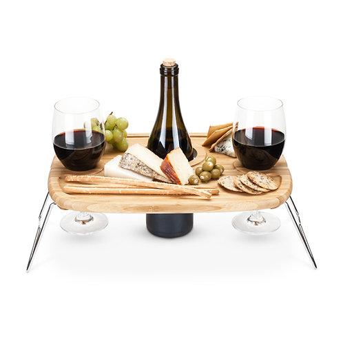 Bottle n Snacks - Wine Picnic Table
