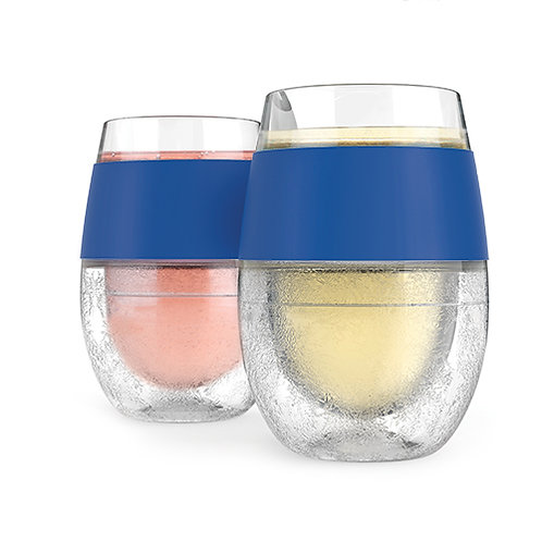 Wine FREEZE™ Cooling Cups in Blue