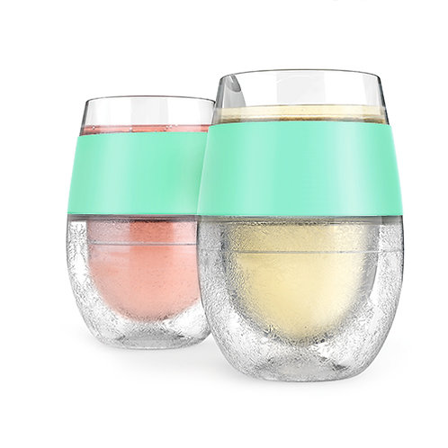 Wine FREEZE™ Cooling Cups in Mint green