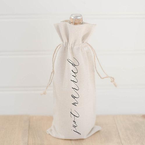 Just Married Wine Bag