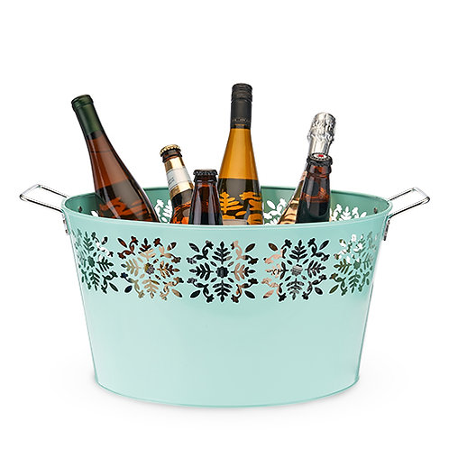 Teal Galvanized Ice Tub by Twine®