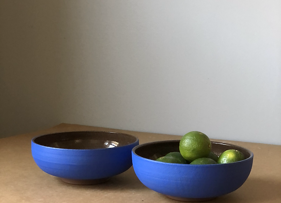 Pair Blue Bowls