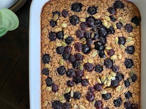 Blueberry Banana Oat Bake