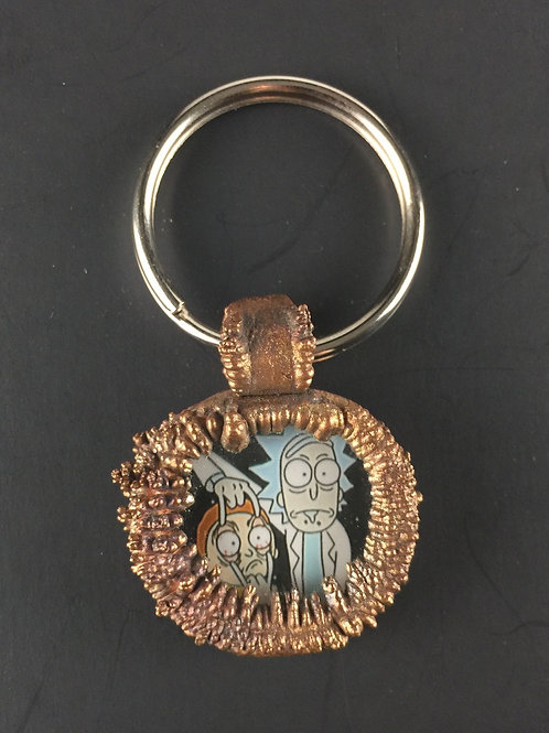 Open Your Eyes Morty Kevin Cantile Copper Electroformed Pendant/Keychain