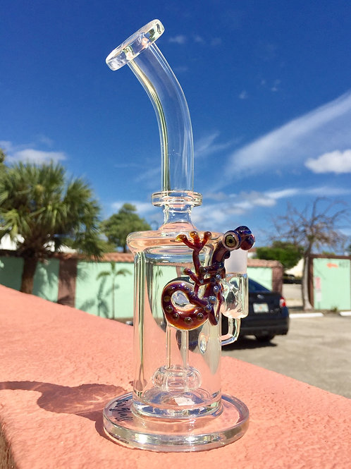 Our Glass Amber Purple Lizard Hanger