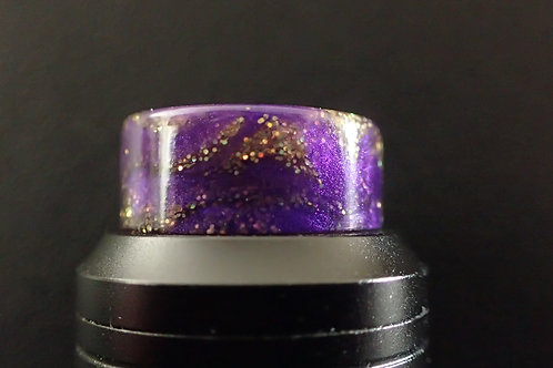 810 Purple/Gold Gliter Driptip
