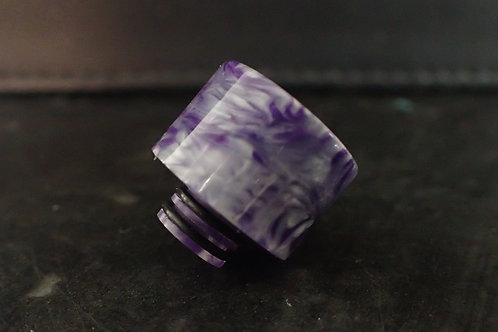 510 Purple/Silver Drip Tip