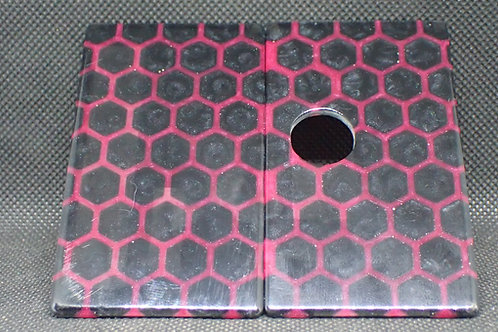 Billet Box V4 -Doors Red Honeycomb