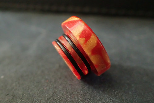810 (O'Ring) Red/Gold Driptip