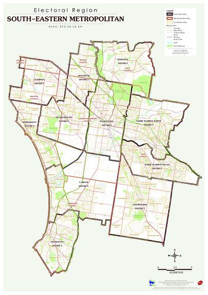 South Eastern Metropolitan Region MapHR