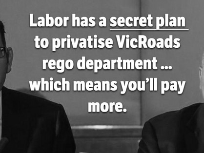 Labor's secret plan to privatise VicRoads rego department will cost Victorians more