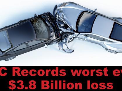 TAC records worst ever $3.8 billion loss