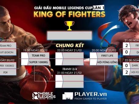 [ KẾT QUẢ VÒNG LOẠI ] GIẢI ĐẤU MOBILE LEGENDS CUP KING OF FIGHTERS  LẦN 1