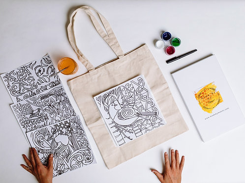 Paint Your Own Tote Bag: New Zealand