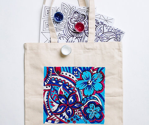Paint Your Own Tote Bag: Pacifica
