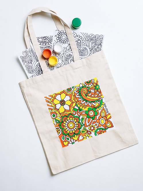 Paint Your Own Tote Bag: Bohemian