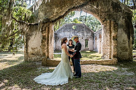 military elopement beaufort sc at st helena chapl of ease ruins