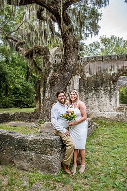 elopement in Beaufort SC at Chapel of Ease Ruins