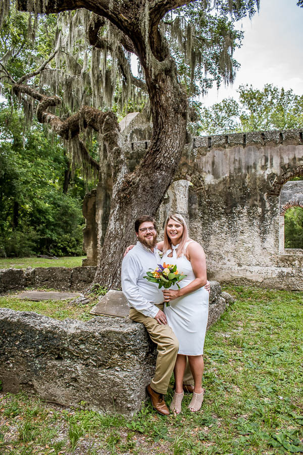 st helena church ruins elopement