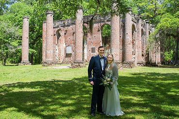military elopement at old sheldon church ruins