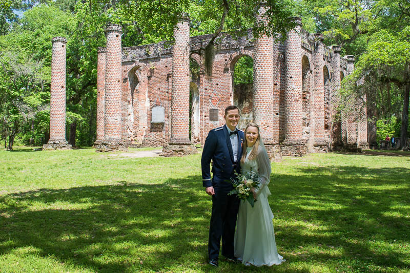 elopement packages for historic old sheldon church ruins
