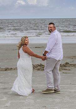 romantic beach elopement at hilton head sc