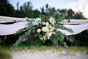 beach arch arrangement by penny of southern charm elopeents