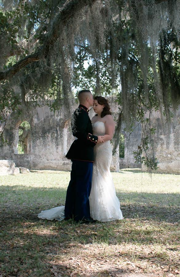 romantic military elopement beaufort sc