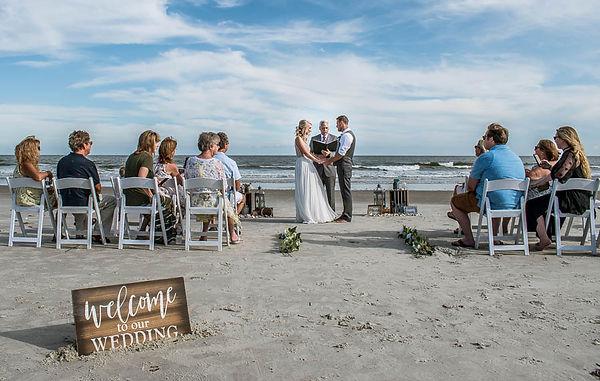 intimate beach wedding ceremony in sea pines on hlton head island