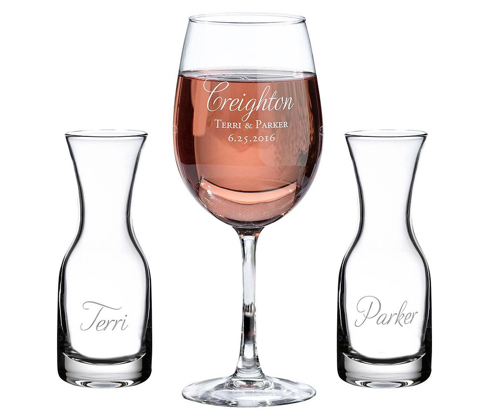 personalized containers for specialty wine wedding ceremony