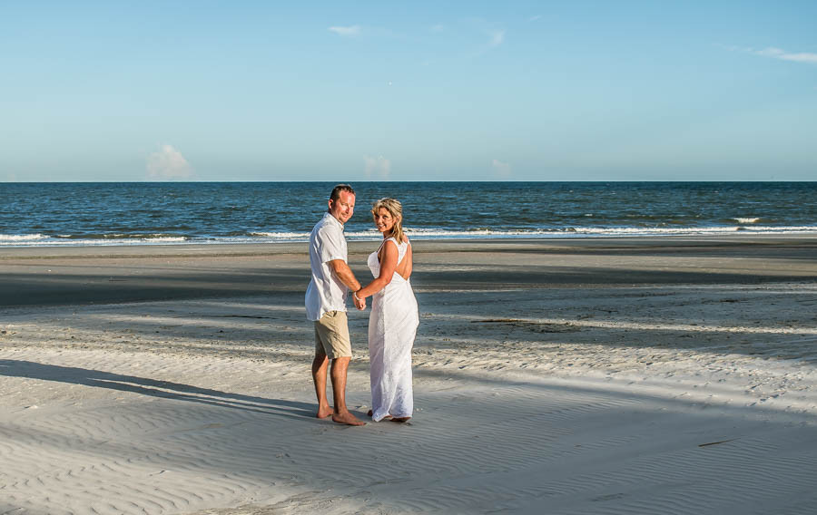 low tide at hunting island.  gay elopement