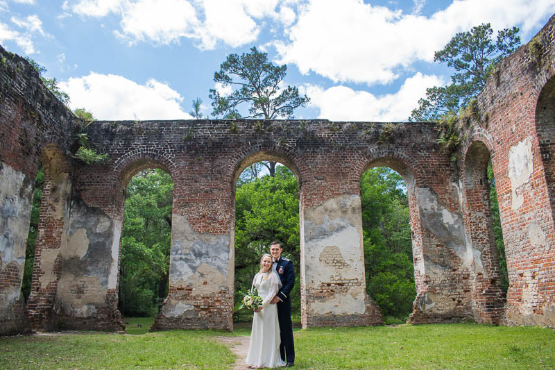 elopement ceremony at old sheldon ruins
