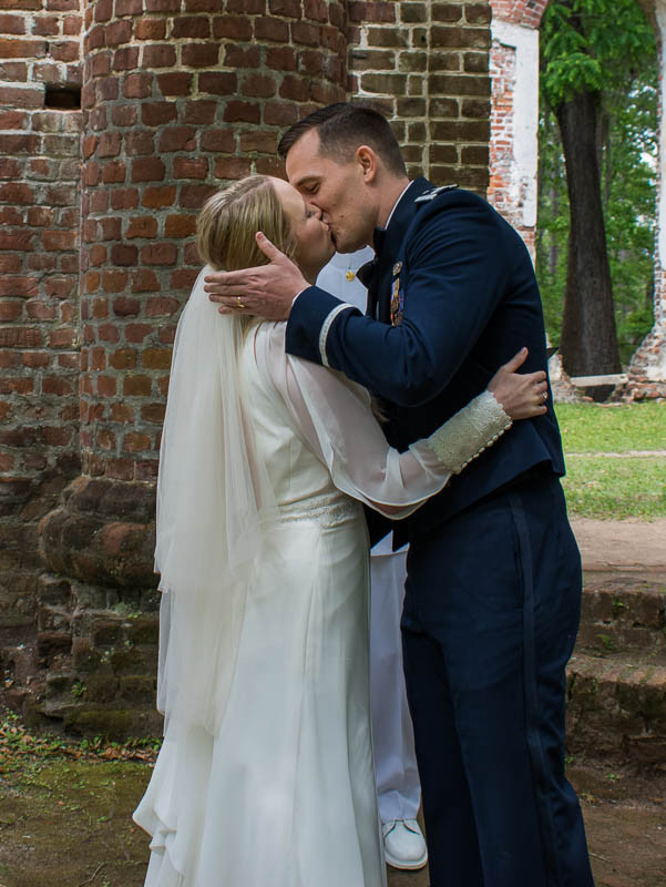 first kiss romantic historic elopement in south carolina