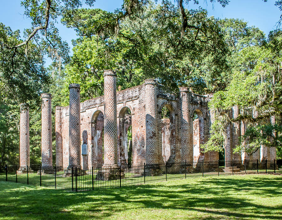 Old sheldon church ruins fenced off 2019