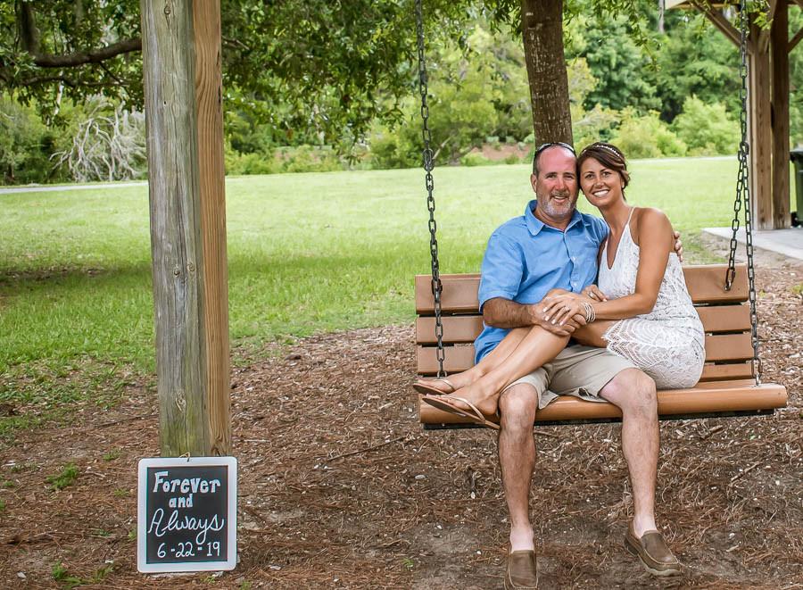 elopement photo at jarvis creek park hilton head sc