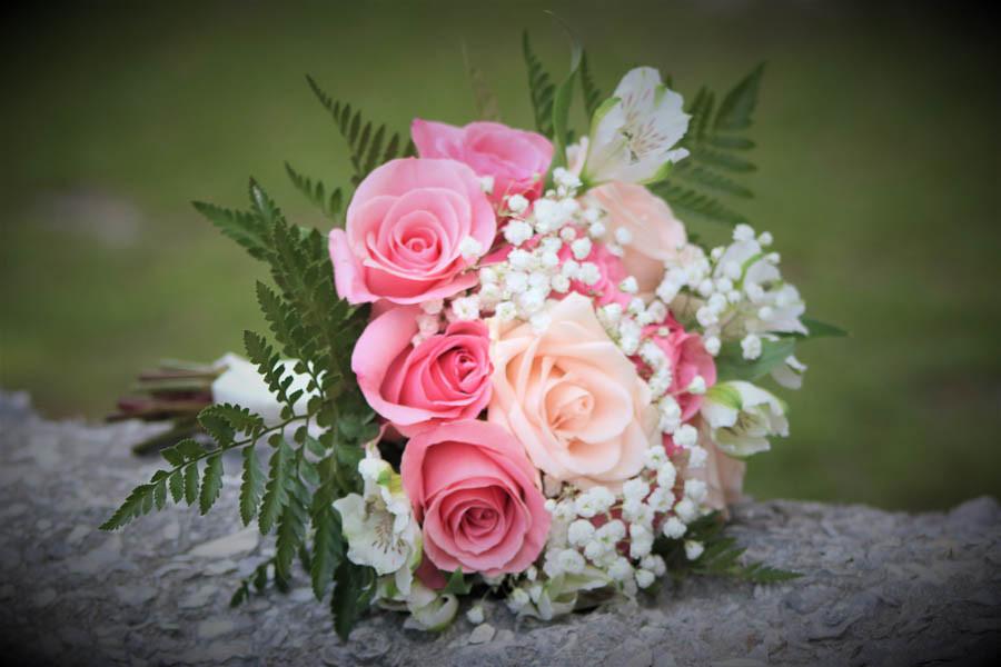 medium pink rose bouquet