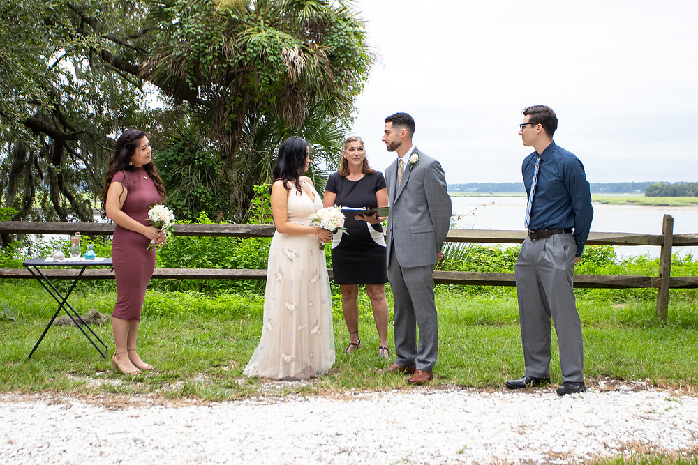 wedding ceremony at oyster factory park sc