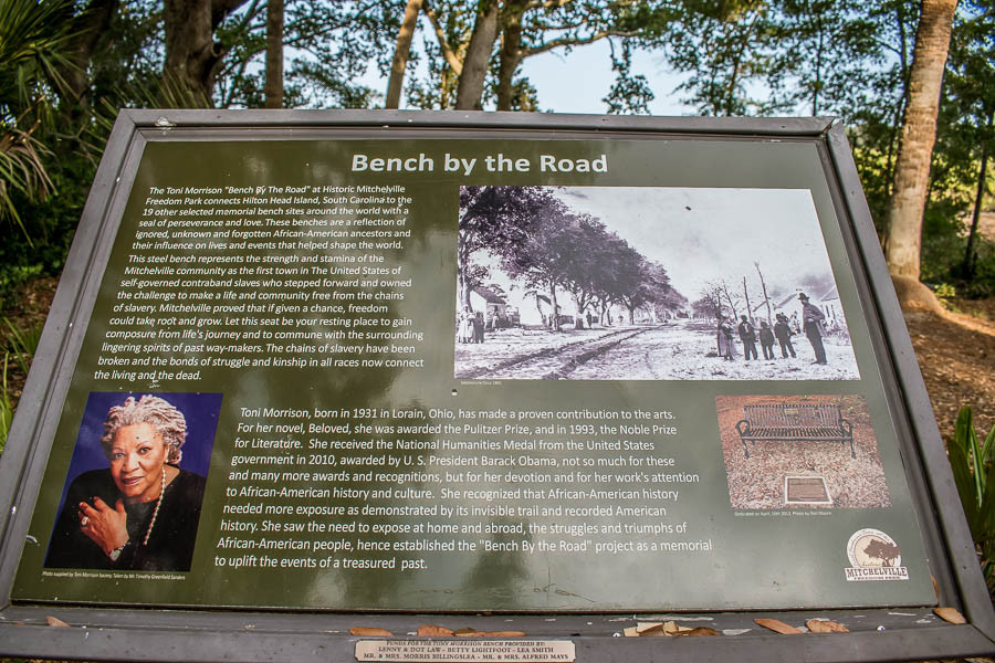 toni morrison bench by the road