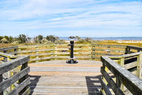 overlook the natural marsh and beach in hilton head south carolina