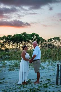 romantic sunset beach elopement south carolina