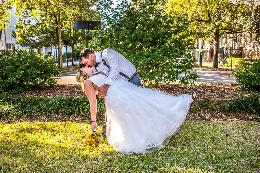 Savannah elopement at Washington Square