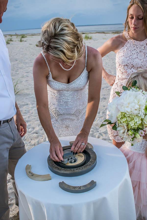 Hilton Head beach wedding puzzle ceremony