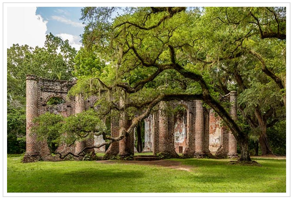 Old Sheldon Church Ruins in Yemasee South Carolina