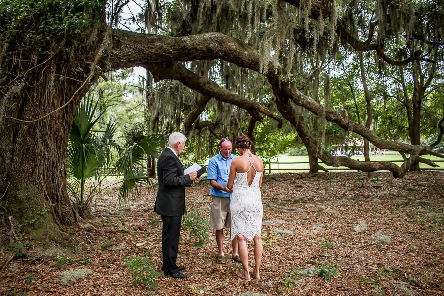 elopement at jarvis creek park hilton head island