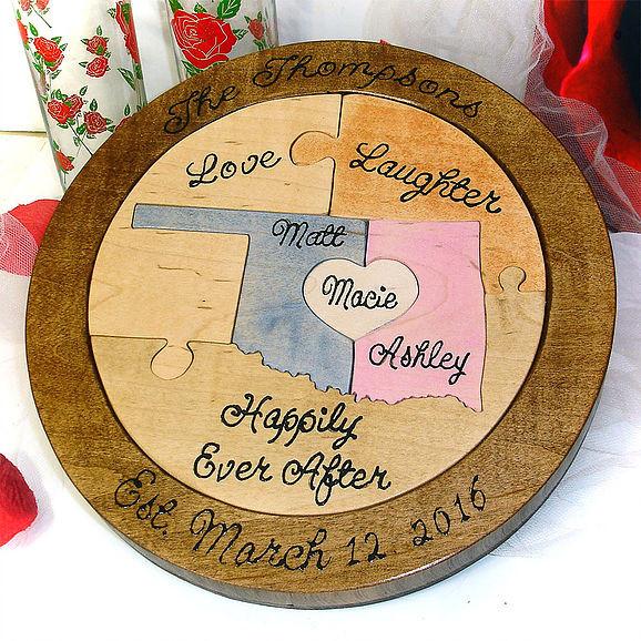 custom puzzle for wedding ceremony