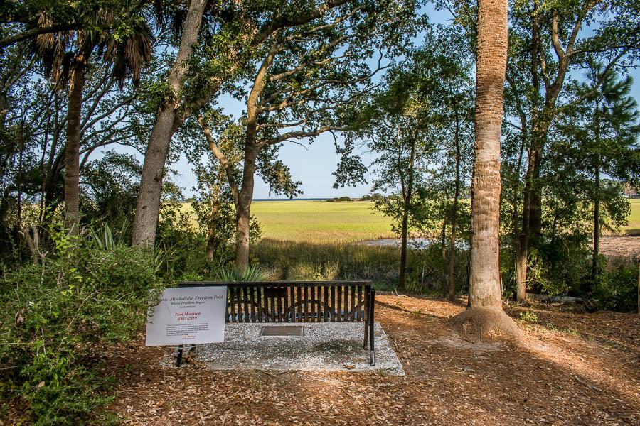 bench overlooking marsh hilton head sc