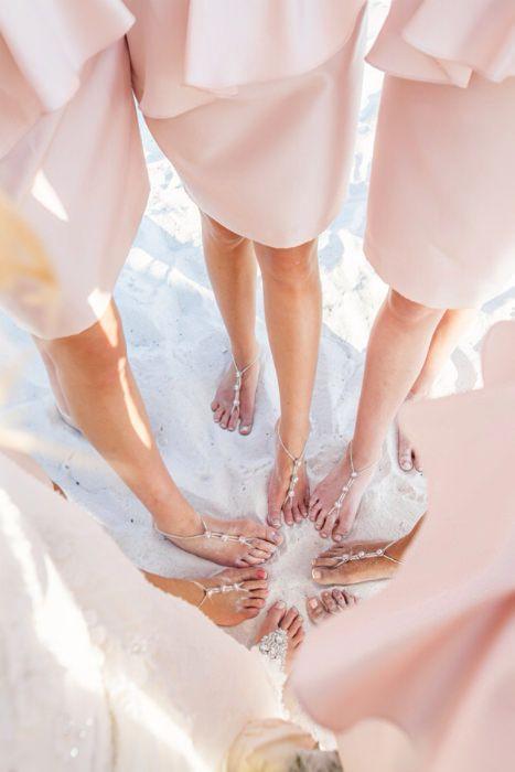 bottomless sandals for beach wedding